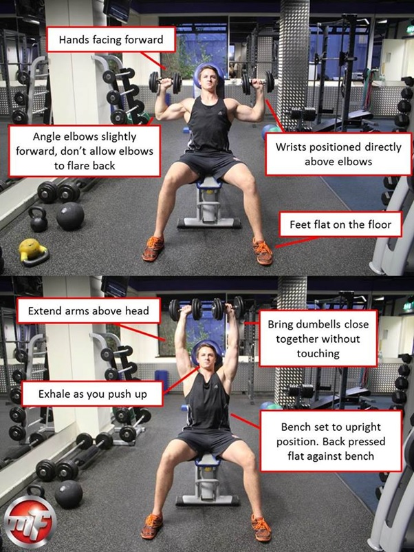 The Dumbbell Shoulder Press Weight Lifting Exercise Tips